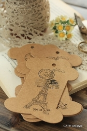 "Garen kaart | Karton ECO | vintage ""PARIS"" |set 5 stuks"