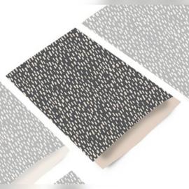 Kadozakjes  eco grijs sparkle   12x19cm   5stuks