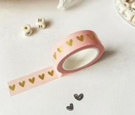 Masking tape | zalm hart goudfolie