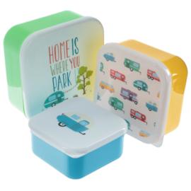 Lunchboxen set - Caravan