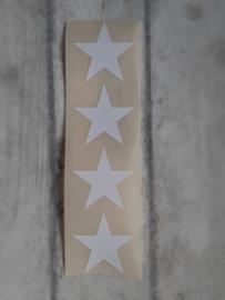 Sticker / ster 35mm wit | 20stuks