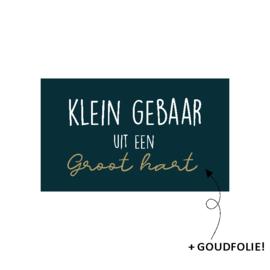 Stickers - Klein gebaar uit een groot hart / 15 stk