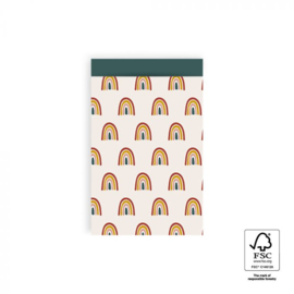 Zakje | regenboog | 12x19cm | 5 stk