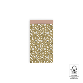 Kado zakjes klein | Flowers liberty | 7x13cm | 5stk