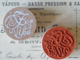 "Stempel / rond / ""For You"""