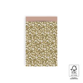 Zakjes Flowers Liberty  - olive green | 12x19cm | 5stk