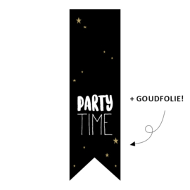 Sticker - vaantje / Party time / 20 stk