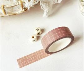 Masking tape | raster grid | donker roze