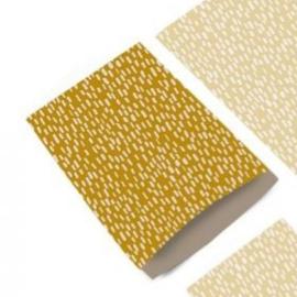 Zakje sparkles yellow   12x19cm   5 stk