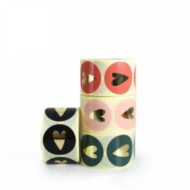 Sticker | hart - soft pink foil / 10 stk