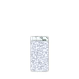 Kado zakjes klein | spring cubes  blauw salie | 7 x 13cm | 5stk