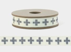 EI 3165  Band 3 meter spoel / blauw kruis - cross