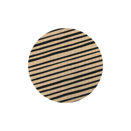 Sticker sluitzegel | rond kraft zwarte strepen - 20stk