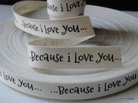 Becauce I love you band / lint per meter | ZA 004