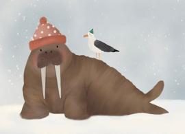 Kaart - Walrus | inclusief envelop