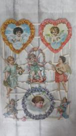 ME 7269 / Poëzieplaatje met glitters / engelen hart
