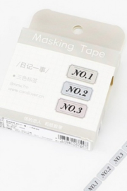 Masking tape / No. Label