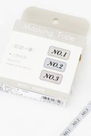 Masking tape / No. Label