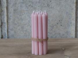 Set kleine kaarsjes / Powder roze / 13x1,2cm