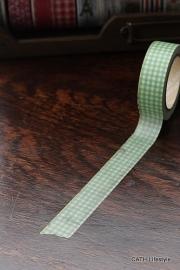 Masking tape  / groen geruit
