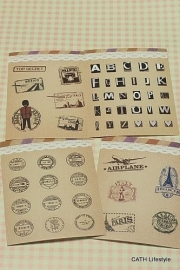 Sticker / vintage 4  velletjes
