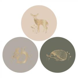 Sticker sluitzegel mix - Forest gold | 55mm | 12stk