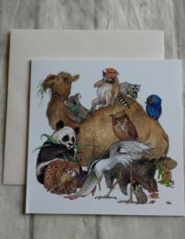 Kaart animals - nr2