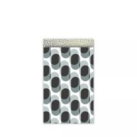 Kado zakje - retro shapes cool | 12x19cm | 5stk