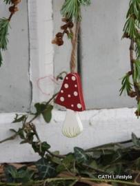 Houten paddenstoeltje