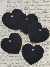 Label hart schulprand zwart / 20 stks