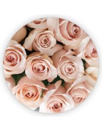 Stickers luitzegel rond XL | rozen | 65mm | 6stk