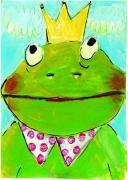 Ansichtkaart - kikker prins