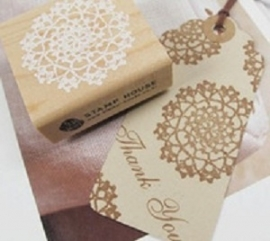 Stempel / kant - lace rond