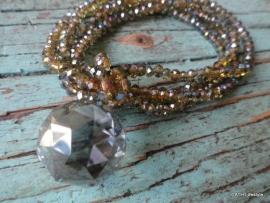 BIBA Armband / crystal green met hanger