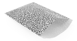Cadeau zakjes - Leopard zwartwit | 17x25cm | 5stk