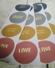 Stickers / multi tekst / kleur / 12 stk