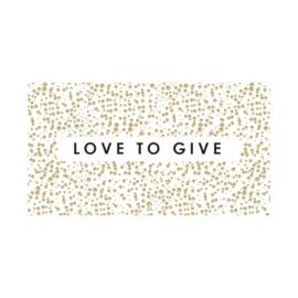 Sticker sluitzegel rechthoek | love to give | 20 stuks