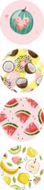 Sticker sluitzegel   Tropical Fruits   35mm   20stk