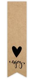 Sticker vaantje label | kraft - enjoy - 10stk
