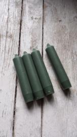 Kaarsen Olive green / korte dinner kaarsen