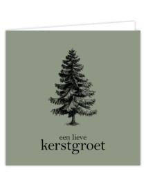 Wenskaart - kerst | een lieve kerstgroet / kerstboom