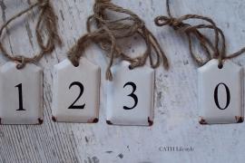 Hanger / label  met cijfer