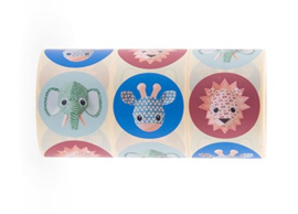 Sticker sluitzegel mix - Studio Ditte - Wild Animals | 50mm | 12stk