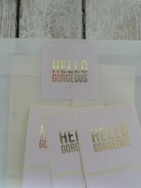 Sticker / Hello Gorgeous / 15stks