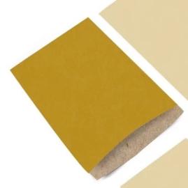 Zakjes   kraft   oker geel   12x19cm   5 stk