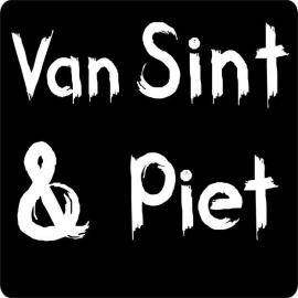 "Sticker |schoolbord ""Van Sint & Piet"" / 20stk"