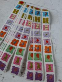 Stickers | dieren mix  | 10 stuks