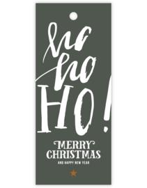 Cadeau kaartje /label - kerst | Ho Ho Ho - Merry Christmas and a Happy New Year