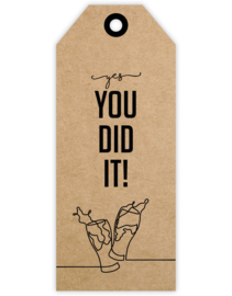 Cadeaulabel - Yes You did it