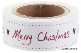 EI 4730 Masking tape geschreven tekst Merry Christmas
